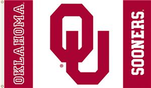 COLLEGIATE Oklahoma Sooners Red/White 3' x 5' Flag