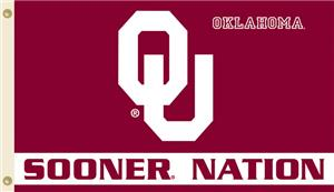 COLLEGIATE Oklahoma Sooner Nation 3' x 5' Flag