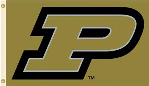 COLLEGIATE Purdue Logo Only 3' x 5' Flag