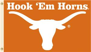 COLLEGIATE Texas Hook 'Em Horns 3' x 5' Flag