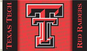 "COLLEGIATE Texas Tech Double ""T"" 3' x 5' Flag"