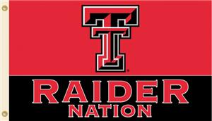 COLLEGIATE Texas Tech Raider Nation 3&#39; x 5&#39; Flag