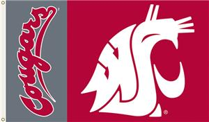 COLLEGIATE Washington State Cougars 3&#39; x 5&#39; Flag