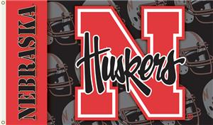 COLLEGIATE Nebraska 2-Sided 3' x 5' Flag