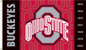 COLLEGIATE Ohio State 2-Sided 3&#39; x 5&#39; Flag