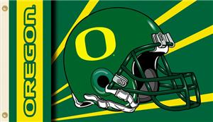 COLLEGIATE Oregon Helmet 2-Sided 3' x 5' Flag