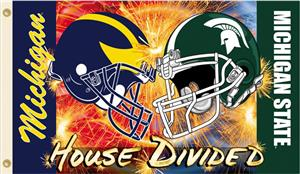 COLLEGIATE Michigan-Michigan St House Divided Flag