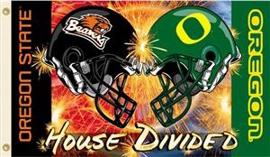 COLLEGIATE Oregon-Oregon St. House Divided Flag
