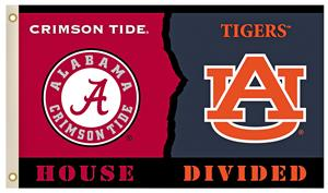 COLLEGIATE Alabama-Auburn House Divided Flag