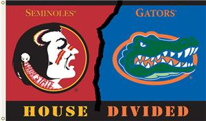 COLLEGIATE Florida-Florida St. House Divided Flag