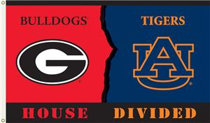 COLLEGIATE Georgia-Auburn House Divided Flag