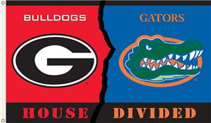 COLLEGIATE Georgia-Florida House Divided Flag