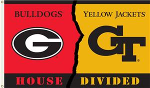 COLLEGIATE Georgia-Georgia Tech House Divided Flag