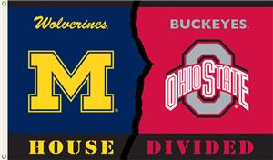 COLLEGIATE Michigan-Ohio St. House Divided Flag