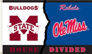 COLLEGIATE Miss St.-Ole Miss House Divided Flag