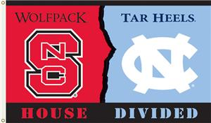 COLLEGIATE N. Carolina-NC State House Divided Flag
