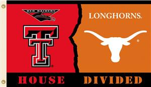 COLLEGIATE Texas Tech-Texas House Divided Flag