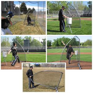 A-Screen Pro Baseball Pitching Screen Nets