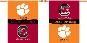 COLLEGIATE Clemson-S. Carolina Divided Banner