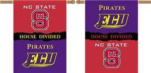 COLLEGIATE NC St.-E. Carolina House Divided Banner