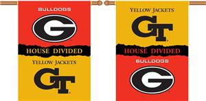 COLLEGIATE Georgia-GA. Tech House Divided Banner