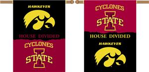 COLLEGIATE Iowa-Iowa State House Divided Banner