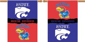COLLEGIATE Kansas-Kansas St. House Divided Banner