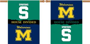 COLLEGIATE Michigan-Michigan St. Divided Banner