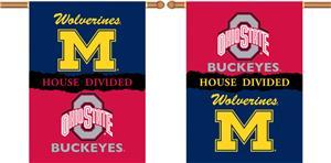 COLLEGIATE Michigan-Ohio St. House Divided Banner
