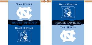 COLLEGIATE N. Carolina-Duke House Divided Banner