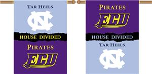 COLLEGIATE N. Carolina-E. Carolina Divided Banner