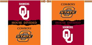 COLLEGIATE Oklahoma-Oklahoma St. Divided Banner