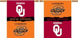 COLLEGIATE Oklahoma-Oklahoma St. Divided Banner