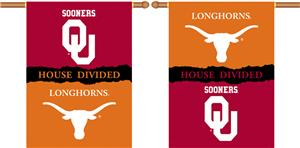 COLLEGIATE Oklahoma-Texas House Divided Banner