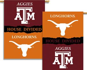 COLLEGIATE Texas-Texas A&M House Divided Banner
