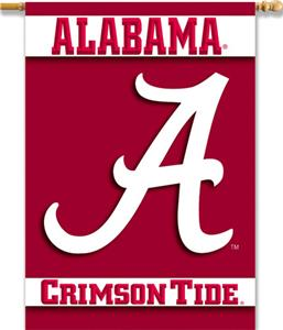 COLLEGIATE Alabama &quot;A&quot; 2-Sided 28&quot; x 40&quot; Banner