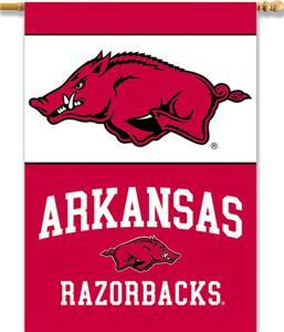 """COLLEGIATE Arkansas 2-Sided 28"""" x 40"""" Banner"""