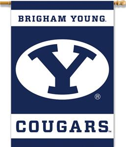 "COLLEGIATE Brigham Young 2-Sided 28"" x 40"" Banner"