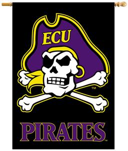 "COLLEGIATE East Carolina 2-Sided 28"" x 40"" Banner"