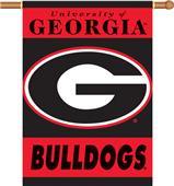 "COLLEGIATE Georgia ""G"" 2-Sided 28"" x 40"" Banner"
