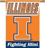 "COLLEGIATE Illinois 2-Sided 28"" x 40"" Banner"
