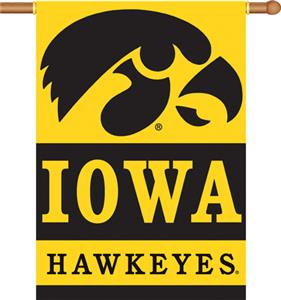 "COLLEGIATE Iowa 2-Sided 28"" x 40"" Banner"