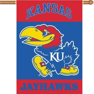 """COLLEGIATE Kansas 2-Sided 28"""" x 40"""" Banner"""