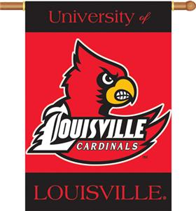 COLLEGIATE Louisville 2-Sided 28&quot; x 40&quot; Banner