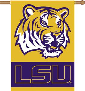 "COLLEGIATE LSU 2-Sided 28"" x 40"" Banner"