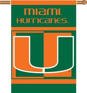 "COLLEGIATE Miami 2-Sided 28"" x 40"" Banner"