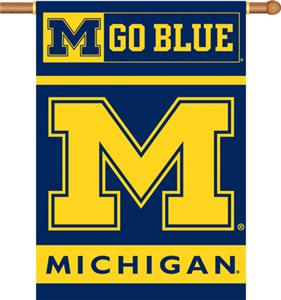 "COLLEGIATE Michigan 2-Sided 28"" x 40"" Banner"