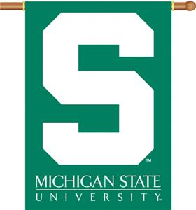"COLLEGIATE Michigan State 2-Sided 28"" x 40"" Banner"