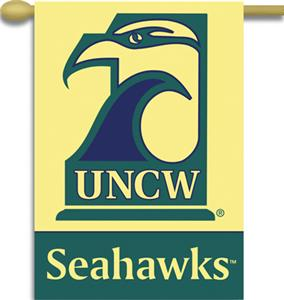 "COLLEGIATE UNC Wilmington 2-Sided 28"" x 40"" Banner"