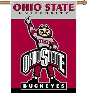 "COLLEGIATE Ohio State 2-Sided 28"" x 40"" Banner"